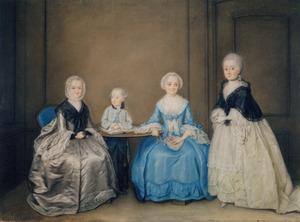 Portret van waarschijnlijk de familie van  Anna Maria Vlotman (1696-1779)