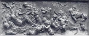 Slapende Silenus met saters en putti rond een ezel
