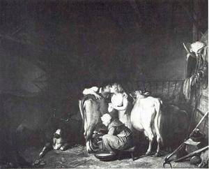 De romance in de schuur of de stal
