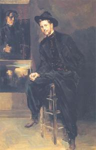Lendall Pitts in zijn atelier in Parijs