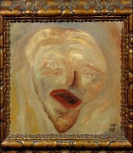 Zelfportret van Erich Wichman (1890-1929)