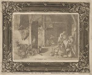Vrouwen in een stal