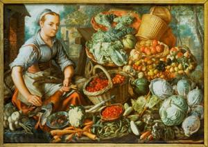 De groentenverkoopster