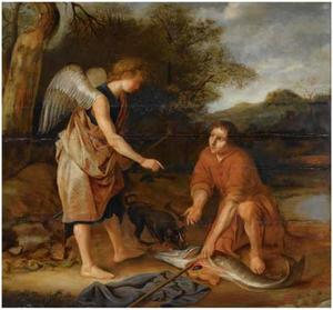 Tobias verwijdert op aanwijzing van de engel de gal, het hart en de lever uit de vis (Tobias 4-6)