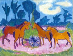 Landschap met paarden