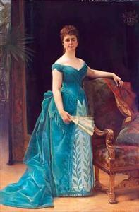 Portret van Louise Cathérine Antoinette Borski (1832-1893)
