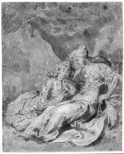Vertumnus en Pomona (?) (Metamorfosen 14:623-697 en 765-771)