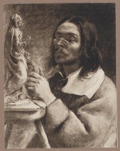 'Het gezicht': portret van een man, mogelijk Artus Quellinus (1609-1668)
