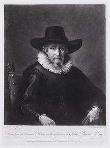 Zittende man met een hoed, ten halven lijve