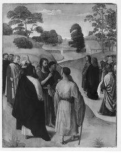 Johannes de Doper wijst Christus aan als het Lam Gods