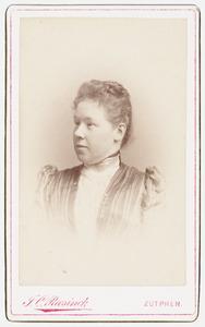 Portret van Christina Elisabeth Anna Gerhardina van Kretschmar (1860-1925)