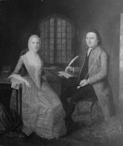 Dubbelportret van Johannes van den Bosch (1726-1809) en Adriana Poningh (1749-1804)