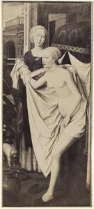 Koning David bespiedt de badende Batseba (2 Samuël 11:2)