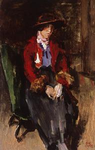 Portret van Greta Braakensiek in haar rol van Eliza Doolittle in 'Pygmalion'