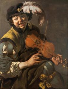 Een vioolspelende jongen