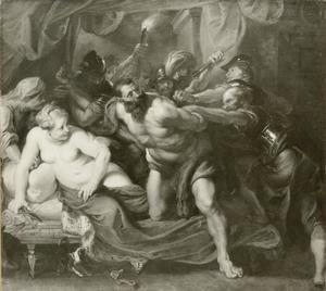 De gevangenneming van Simson  (Rechters 16:19-21)