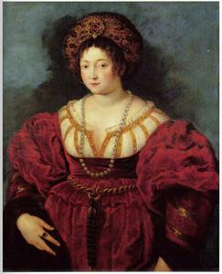 Portret van marchesa Isabella d' Este (1474-1539)