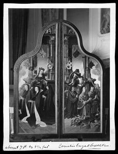Willem Jan Kerstantsz. Stoop, Jan van Lockhorst, Jacob Heerman Gerritsz. en de H. Joris; Adriana, Hendrika en Margaretha van der Does en de H. Maria Magdalena