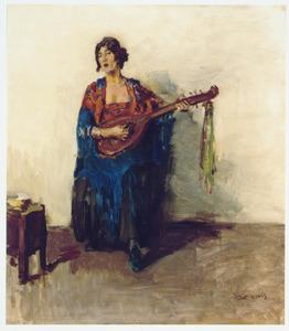 Portret van de Guusje van Dongen, vrouw van de schilder Kees van Dongen