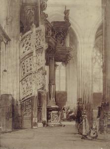 In de kerk Saint Maclou te Rouen