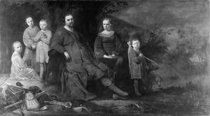 Portret van mogelijk Lucas de Clercq (....-1652), Adriaentgen Keyser(s) (....-1662) en hun gezin