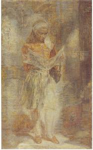 Meisje met een krant
