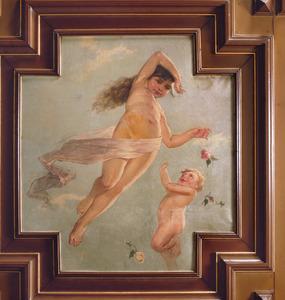 Meisje en klein jongetje met een rozen