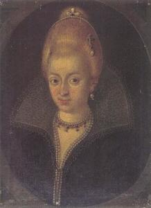 Portret van een vrouw, mogelijk prinses Elizabeth van Brunswijk-Wolfenbüttel (1573-1626), later hertogin van Saxen-Altenberg