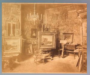 Atelier van Jacob Maris in de Javastraat te Den Haag