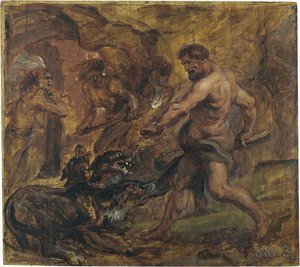 Hercules en Cerberus (Ovidius, Metamorfose, VII, 409-419)
