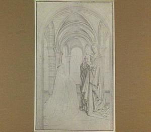 Provoost Nicolaes van Maelbeke aanbidt Maria met kind