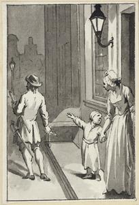 Illustratie voor 'De klepperman' in de Kleine gedichten voor kinderen door H. van Alphen