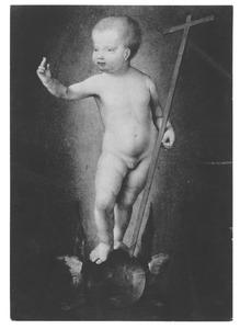 Het Christuskind, staande op een gevleugelde wereldbol