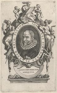 Portret van Jan van der Straet (Johannes Stradanus) (1523-1605)
