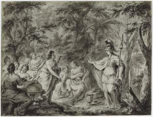 Minerva bezoekt de muzen (Metamorfosen)