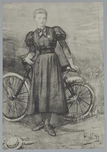 Een meisje met een fiets