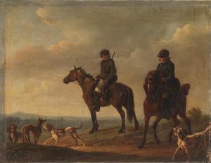 Twee jagers te paard