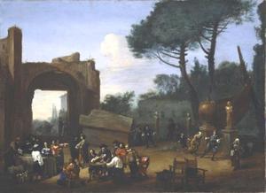 Tuinfeest van schildersbent in Rome