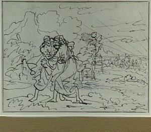 Jakob worstelend met de engel (Genesis 32:23-32)