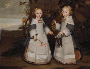 Dubbelportret van twee meisjes
