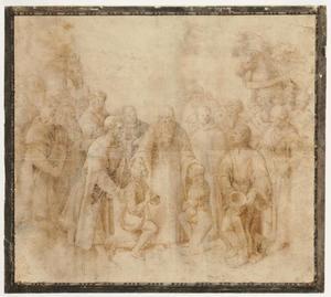 Heilige Benedictus ontvangt Maurus en Placidus