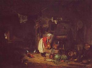 Boerderij-interieur in de Berry