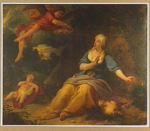 De engel wijst Hagar de bron in de woestijn (Genesis 21:17-18)