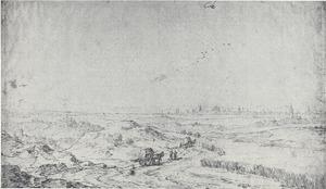 Panorama met links Solingen, rechts van het midden keulen en uiterst rechts het Siebengebirge