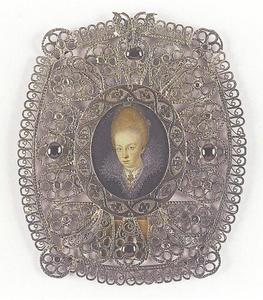 Portret van prinses Hedwig van Brunswijk-Wolfenbüttel, later hertogin van Pomerania (1595-1650)