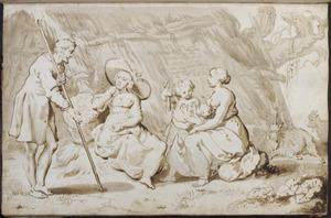 Maria met Christus, Johannes de Doper en zijn ouders Elizabeth en Zacharias
