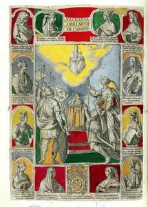 Keizer Augustus en de Tiburtijnse sibylle, omringd door de twaalf sibyllen