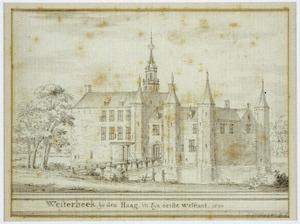 Gezicht op het kasteel Westerbeek