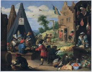 Apen-allegorie: het militaire kamp