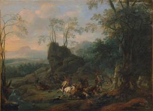 Berenjacht in een bergachtig bos